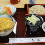大栄 - ミニ丼セットです(^◇^)