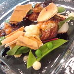 ヴェルデ辻甚 - 前菜(宮崎県産牛ロースの炙りとナチュラルなフォワグラ)