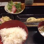 まる徳 - サバ焼き定食