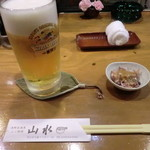 海鮮居酒屋山水 - お通し(ホタルイカ)