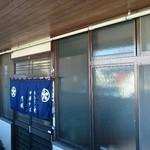 円城 - 手前の暖簾があるところが入口