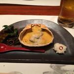 個室居酒屋 番屋 - 焼き物 カニ甲羅焼き クリーミーグラタン