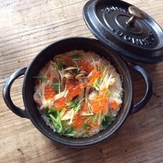 鮭ハラスの鍋炊きごはん普段着の手料理