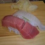 寿司華 - マグロ えんがわ