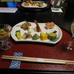 割烹の宿 いま井 - 料理写真:先付と前菜