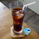 """cafe ゆきかぐれ - アイスティー(""""ぱんけーき""""に+\210でつけられる、2015年2月)"""