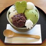 cafe ゆきかぐれ - 和ぱふぇ(\830、2015年2月)