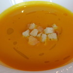 36331986 - 北海道産かぼちゃの温かいスープ