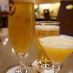 Bistro&Cafe 徒然 - 生ビール(500円)Sシンデレラ(600円)とオールフリー(450円)