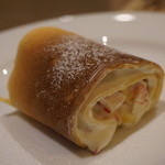 Bistro&Cafe 徒然 - イチゴとバナナのクレープ(650円)