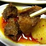 やきやき亭 - ジャガイモと牛筋のサービス皿
