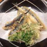 とんかつ 安右衛門 - サヨリと鰯の天ぷら