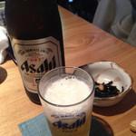 やぶ久 - 瓶ビール(550円)