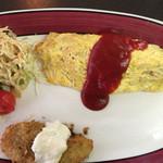 レストラン サム - カニコロッケとオムライスセット1300円