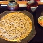 和食処 悠水 - 「もり」 やや太め、田舎風乱切り