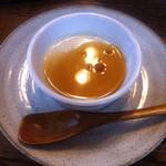 にしき - 豆乳プリンの黒蜜かけ