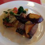 レストラン&パティスリー 木かげ茶屋 - ノルウェーサーモン魚のヴルーテソース