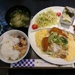 和菓子&和カフェ 一力餅 - とんかつ卵とじ定食  880円
