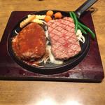 ステーキハウス慶 - ハンバーグとステーキのコンビ