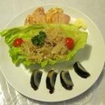 虎 - 前菜三種盛り(700円)