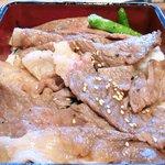 36346956 - 【'15/03/27撮影】雅山肉の日限定ランチ<限定40食> 1000円 の黒毛和牛サーロインステーキ重