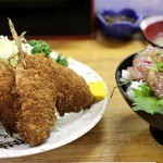 にし与 - アジフライ単品&あじたたき丼
