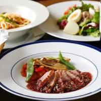 ふれんち食堂UMEYA - 合鴨胸肉のロースト フレッシュグリーンペッパーソース