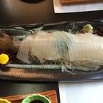 遊魚菜 平翁 - 活いかづくし/イカの刺身(3700円)
