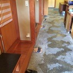 遊魚菜 平翁 - 座敷前の廊下