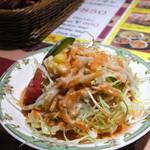 シブ・シャンカル - タンドリーセット(¥840)のサラダ