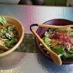36357803 - グリーンサラダときのこの和風サラダ。