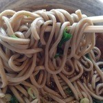 36359061 - 麺はやや太麺でゆで麺を袋から出して温めるやり方
