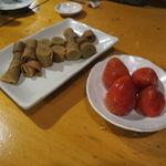 海森 - お楽しみデザート:黒糖のクレープ、苺の練乳アイス、ちんすこうショコラ1
