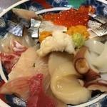 36359455 - ランチの海鮮丼。この他に椀とデザートが付きます。