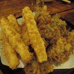いけす地酒処 - 春野菜の天ぷら盛り合せ
