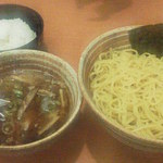 錦 - つけ麺770円+大盛110円&サービス半ライス