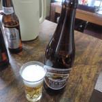お食事処 さざなみ - またまたビール(^_^;