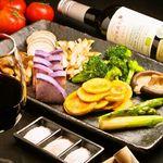 産直鉄板 くり - 産地直送野菜の鉄板盛り合わせ
