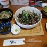 36366849 - 薬味丼 /初かつお&天然ぶり ¥756  (消費税8%込み)