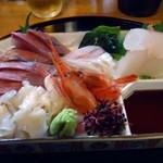 あいあんほーす - 料理写真:「刺身盛り」1400円也。その1