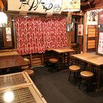 焼とんyaたゆたゆ - 2階はテーブル席のみ、貸切で宴会も可能です。