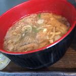 根室食堂 - いくらのとろろ丼と秋刀魚の塩焼き定食のあら汁