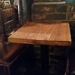 さぼうる - 古くからあるテーブルにも趣があります