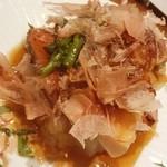 俺の割烹 博多 中洲 - フォアグラと牛フィレ春野菜添え