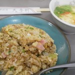 36395283 - 半チャーハン&玉子スープ♪
