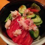 36395847 - ズワイガニと美味トマトサラダ