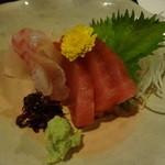 まるた海道 - 鯛と本鮪の刺身♪