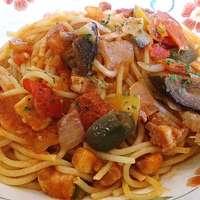 サイゼリヤ-Saizeriya 志村2丁目店 ランチ 彩り野菜のトマトソーススパゲッティ