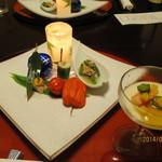あえりあ遠野 - 料理写真:先付と前菜