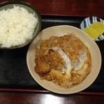 お食事処ときわ - カツ煮定食(550)